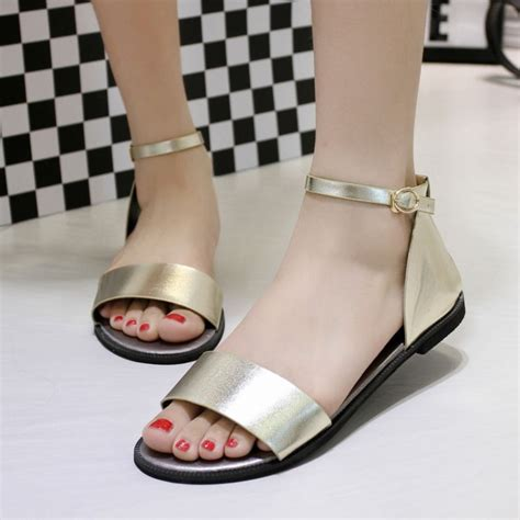 korean flat shoes 2015 summer new korean sandals flat shoes