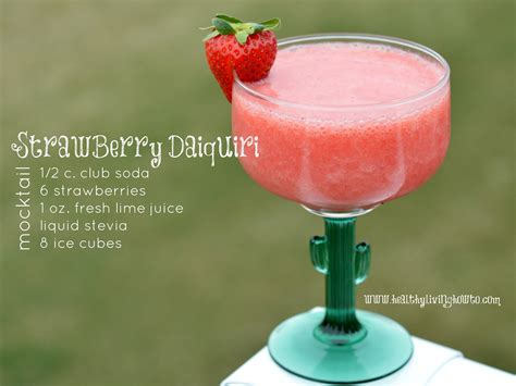 daiquiri cocktail strawberry daiquiri mocktail healthy living how to