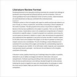 literature review outline template 8 free sle