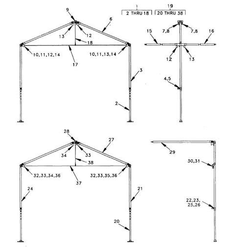 3 section tent figure c 20 tent frame assembly sheet 2 of 3