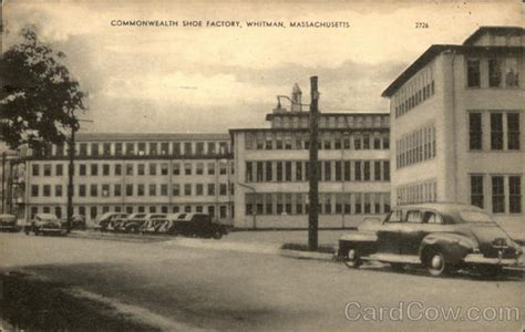 Whitman Post Office by Commonwealth Shoe Factory Whitman Ma Postcard
