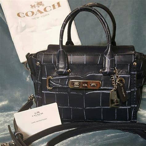 Coach Swagger Size 26 Tas Branded 12 coach handbags coach swagger 20 croc cross from randi s closet on poshmark