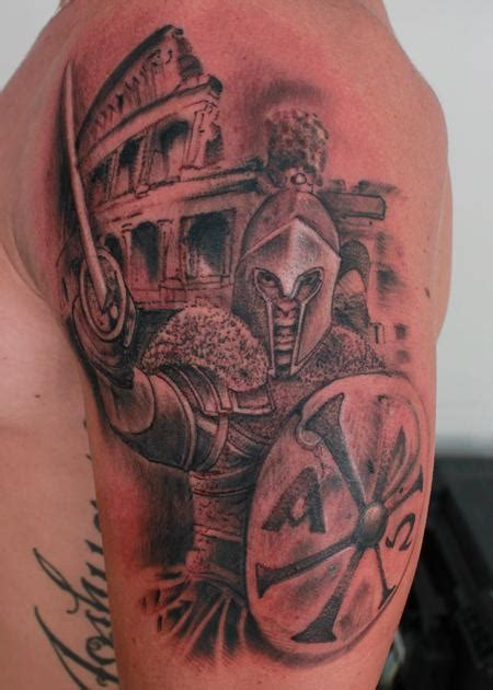 roman soldier tattoo by steve phipps tattoos