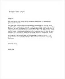 template for quotation letter quotation letter sle 9 exles in word pdf
