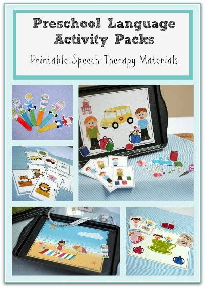 speech therapy worksheets for preschoolers creative preschool speech therapy activities for busy slps