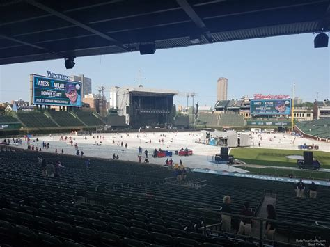 wrigley field concert seating wrigley field section 215 concert seating rateyourseats