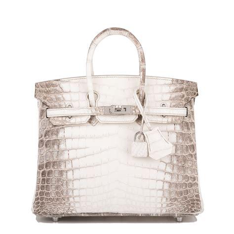 Tas Hermes Birkin Himalaya Fashion hermes birkin bag 25cm white matte niloticus himalayan crocodile palladium hardware world s best