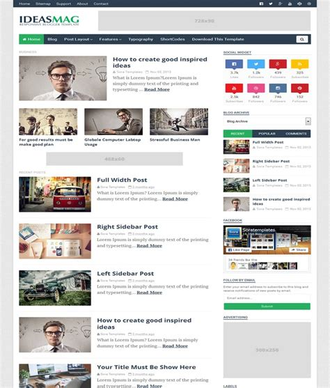 layout blog template ideas mag blogger template
