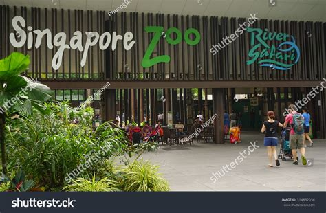 singapore zoo new year 2015 singapore jan 11 2015 entrance singapore stock photo