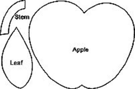 pattern for apple leaf free apple patterns cut 5 each of apple leaf and stem