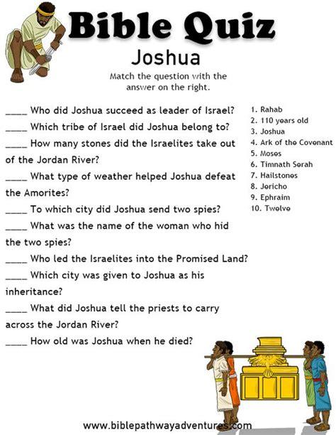printable bible quiz printable bible quiz joshua bible quizzing pinterest