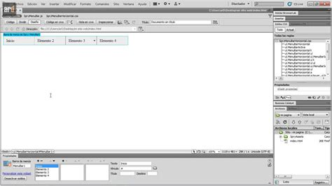 tutorial de dreamweaver cs6 dreamweaver cs6 crear menu desplegable youtube