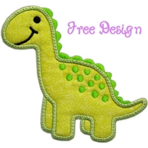 free applique design free dino applique