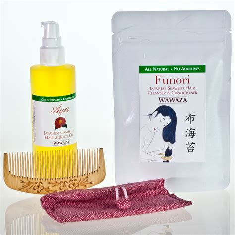 Grasscity Detox Hair Kit by Japanese Hair Care Kit And Wood Comb Say No To Chemicals