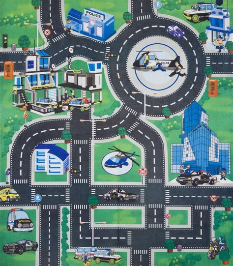 Kids Childrens Boys Car Road Play Mat Roll Up Bithday Rugs With Roads