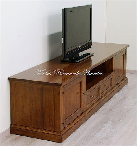mobili per tv in legno porta tv in noce massello 2 porta tv