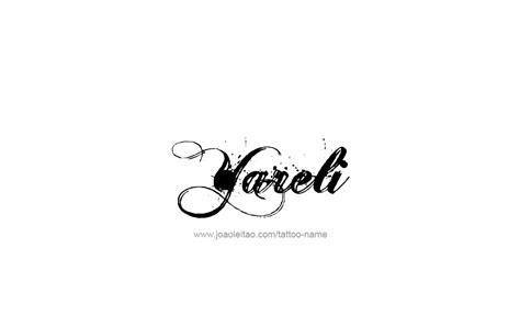 yareli name tattoo designs