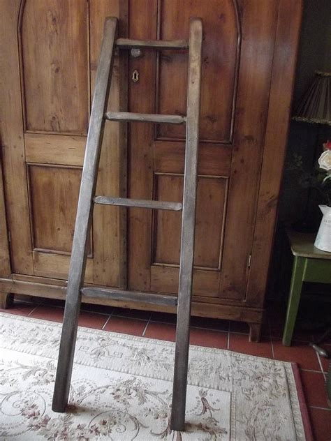 woods vintage home interiors reclaimed wooden towel ladder by woods vintage home interiors notonthehighstreet