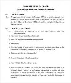 Sle Letter For Catering Business Sle Catering 6 Documemts In Pdf Word