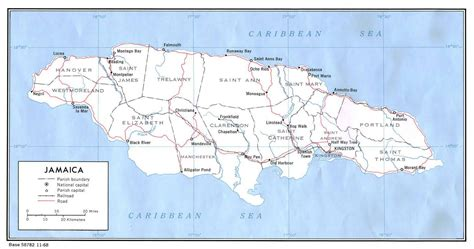 map us and jamaica large detailed political map of jamaica jamaica large