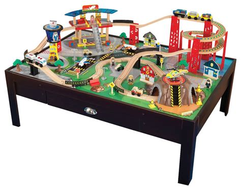 Cxxistian Set 3 In 1 6932 kidkraft home indoor play airport express set and table contemporary