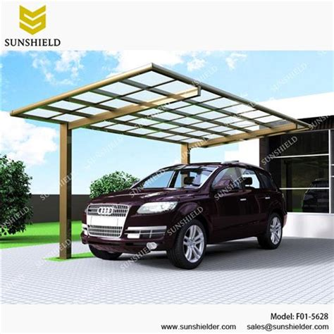 Metal Roof Car Shelter by Metal Car Canopy Prefab Flat Roof Patio Sunshield