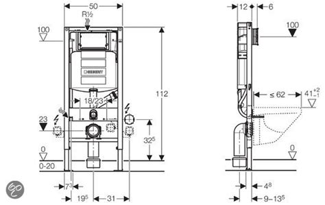 afmeting toilet reservoir wc hoogte bouwinfo