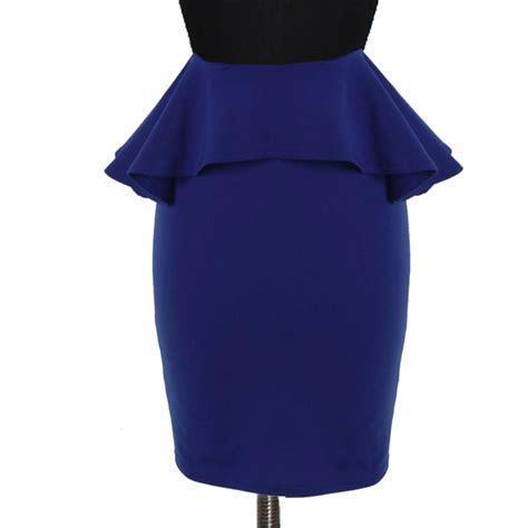 plus size navy blue peplum pencil skirt elizabeth s