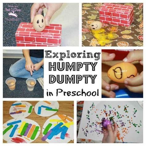kindergarten themes nursery rhymes exploring humpty dumpty in preschool