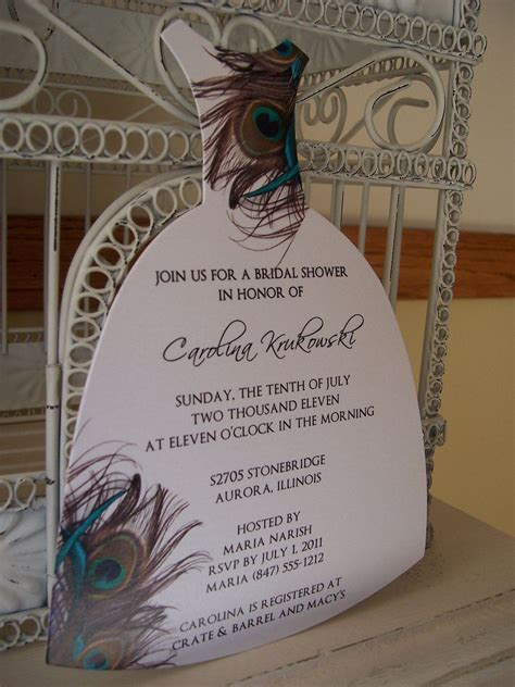 Wedding Shower Invitations Peacock