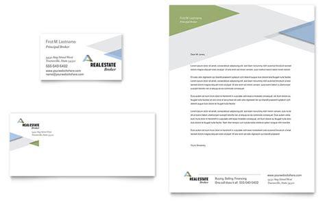 realtor business card letterhead template design