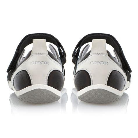 balls sports shoes geox velcro leather flat sports shoes in