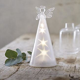 glass angels that light up led glass angel light up christmas decoration lakeland