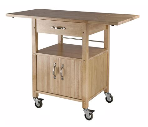 winsome kitchen cart drop leaf cabinet with shelf