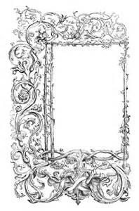 vintage clip art faux bois frames with scrolls the