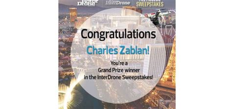 Winners International Sweepstakes - congratulations to the rotordrone and interdrone sweepstakes grand prize winner