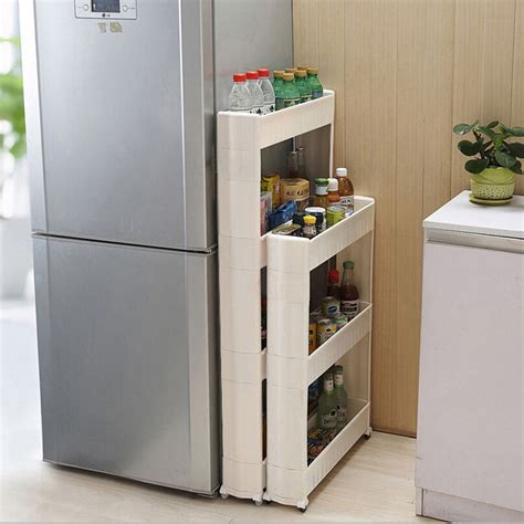 Kitchen With Storage Space 1 Pc White Gap Storage Shelf For Kitchen Storage Skating