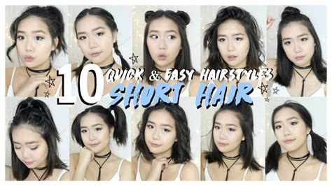 hairstyles  short hair fast easy youtube