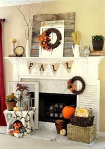 Decorating Ideas For Mantels 39 Beautiful Fall Mantel D 233 Cor Ideas Digsdigs
