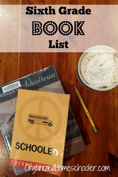 sixth grade book list the organized homeschooler