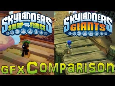 wii vs xbox 1 graphics skylanders vs giants gameplay graphics