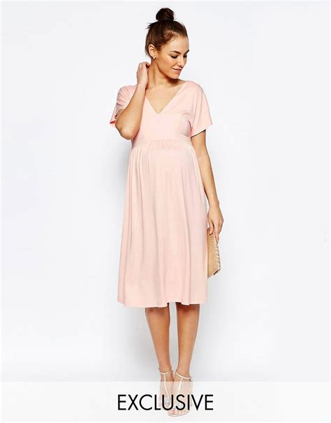Maternity Sleeve Dress asos maternity asos maternity midi dress with flutter