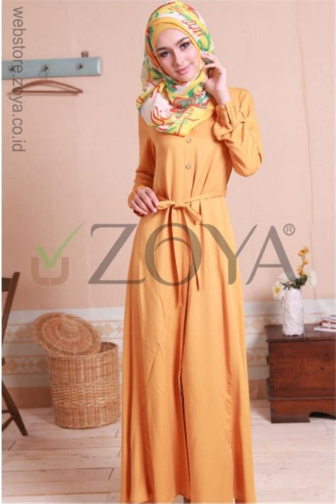 sarimbit dress a 39 koleksi busana muslim zoya dress terbaru model busana