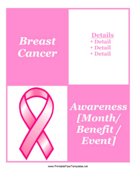 Breast Cancer Awareness Month Flyer Templates