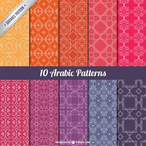 arabic pattern ai arabic patterns pack vector free download
