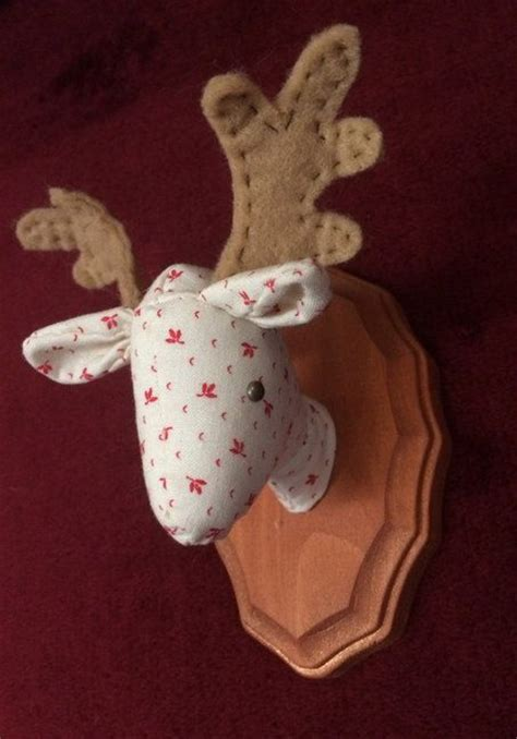 pattern for felt reindeer head mounted reindeer deer head pattern pdf sewing tutorial
