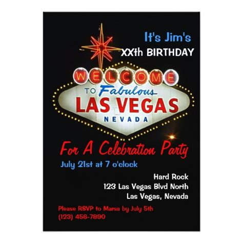 las vegas themed invitation wording birthday las vegas invitations zazzle