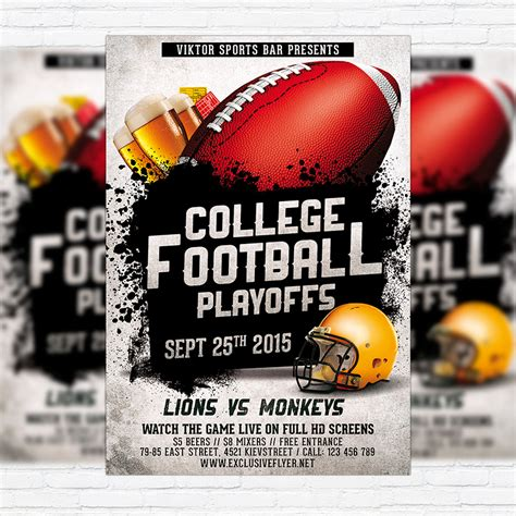 football flyer template american football vol 2 premium flyer template