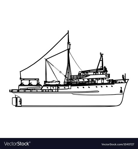 fishing boat license fishing boat royalty free vector image vectorstock