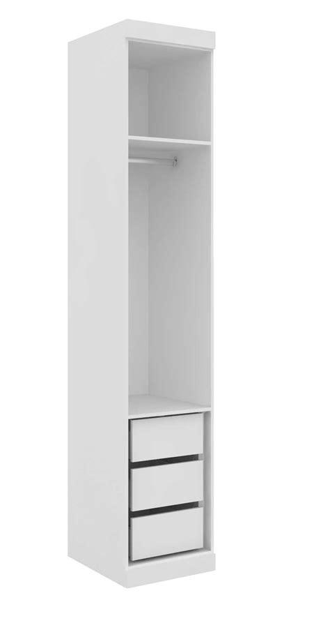 armario modulado arm 225 rio modulado supreme 1 porta 45cm 3 gavetas prateleira